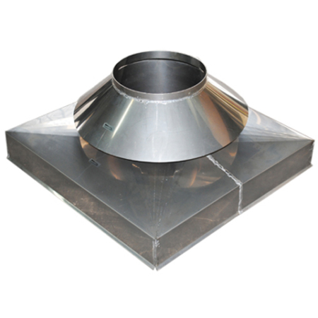 Curb Cap with Storm Collar Stainless Steel